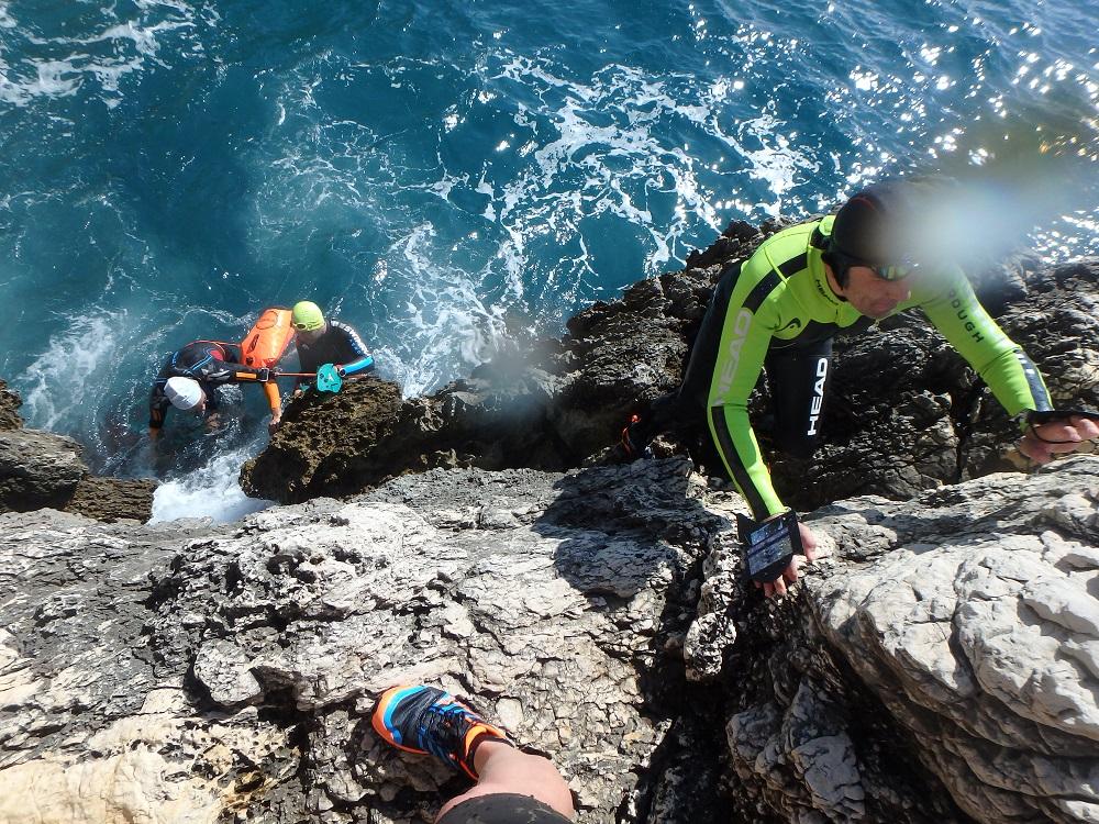 WoS Testing - SwimRun Klettern in den Calanques von Marseille