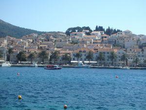 Blick auf die Altstadt von Hvar