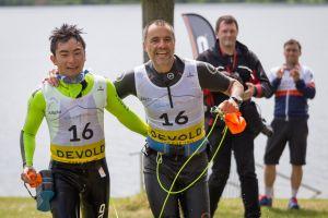 1. SwimRun Hof - 21.2 Hai Nguyen und Boris Mizaikoff - Foto: Andreas Rau