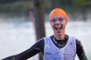 1. SwimRun Hof - Sprint, strahlendes Finish