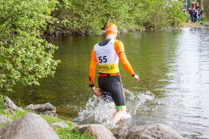 1. SwimRun Hof - Sprint, ab ins Wasser