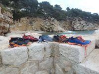 Swimrun Test Schuhe 2017 Südfrankreich