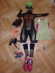 Ausrüstung für Engadin Swimrun - Equipment Barbara
