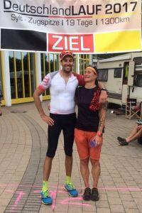 Ziel der Etappe 15 in Dornstadt, Deutschlandlauf 2017
